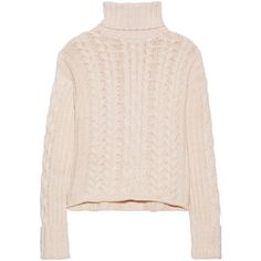 See by Chloé Knitted turtleneck sweater (1.270 DKK) ❤ liked on Polyvore featuring tops, sweaters, baby pink, pink sweater, loose turtleneck sweater, see by chloe sweater, loose fitting tops and pink top