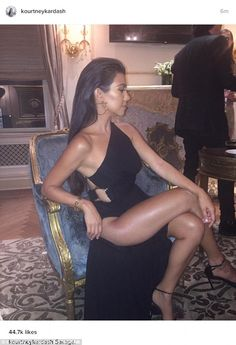 If you've got it...: Kourtney Kardashian showed a lot of skin in this Instagram shared on ...