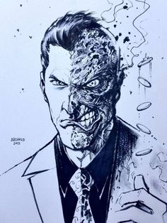 thehappysorceress:Two-Face by Wayne Nichols
