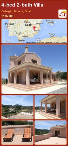 4-bed 2-bath Villa in Cehegin, Murcia, Spain ►€175,000 #PropertyForSaleInSpain