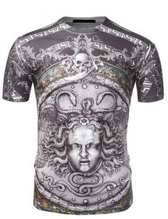 SMITHJAY Mens Medusa Skull T-shirt. AVAILABLE HERE —>...