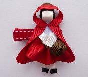 NO T- Red Riding Hood hair bow - Cutest. Bow. Ever.