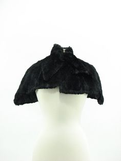 Victorian Black Gothic Fur Cape by snootieseconds on Etsy, $174.00