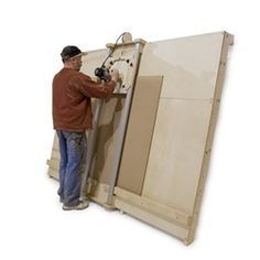 """DIY Panel Saw Kit - Build your own panel saw accurate to 1/32"""". Cut wood and plastic sheet goods quickly, accurately, and safely."""