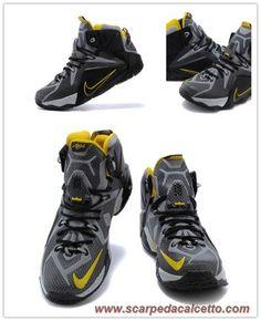 Nike Lebron 12 Nero/Giallo 684593-605 scarpe da calcio online