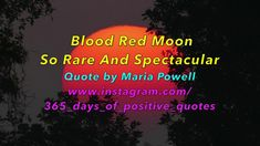 {Blood Red Moon Quotes} - 365 Days Of Inspirational Videos - YouTube Cha...