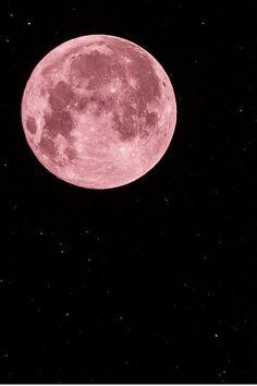 Lua cor de rosa.  Muito fashion