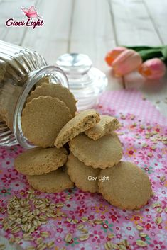Biscotti Cookies, Brownie Cookies, Healthy Treats, Healthy Food, Light Recipes, Vegan Recipes, Muffin, Food And Drink, Tasty