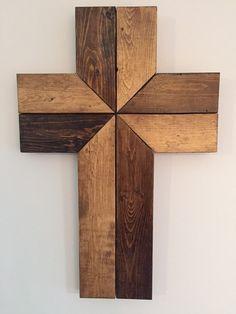 Wood Wall Cross Wood Cross Cross Wall Art by KinNixIndustrial
