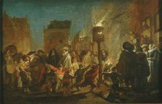 Pieter de Molijn : Evening Party on the Grote Markt in Haarlem (Frans Hals Museum (Netherlands - Haarlem)) 1595-1661 ピーテル・デ・モリン