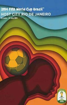 A great poster from the 2014 FIFA World Cup soccer championship in the host city of Rio De Janeiro, Brazil. Ships fast. 11x17 inches. Need Poster Mounts..?