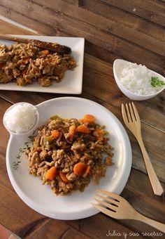 Carne picada con verduras | Cocina