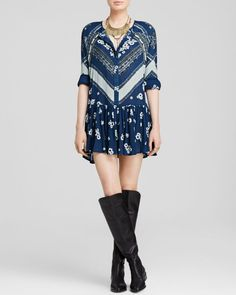 Free People From Your Heart Floral Print Dress