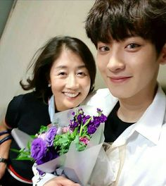 Chanyeol and his mom