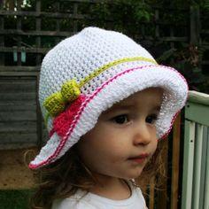 Crochet hat pattern summer floppy hat pattern crochet summer pattern baby hat pattern includes 5 sizes from newborn to adult (78)