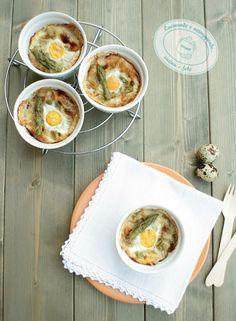 Cocotte con Parmigiano Reggiano e uova di quaglia