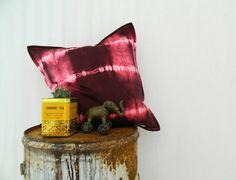 BOHEMIAN . tie dye cushion cover . marsala red by bohemianbabes