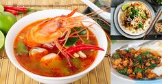 Sour Lobster Soup With Herbs Place uncooked rice in a pot with and bring to the boil . Cut lemon grass stalk in a half piece and crush . Thai Recipes, Soup Recipes, Dessert Recipes, Phuket Food, Prawn Soup, Lobster Soup, Ceviche, Yams, Fabulous Foods