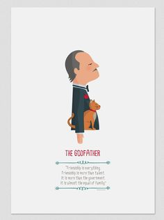 """The Godfather - """"Friendship is everything. Friendship is more than talent. It is more than the government. It is almost the equal of family"""" - Don Vito Corleone The Godfather Poster, Godfather Quotes, Godfather Movie, Der Pate Poster, Marlon Brando, Andy Garcia, Schindlers Liste, Shire, Gangster Movies"""