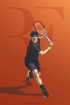 Who is he? My favorite tennis player, Roger Federer. You can use as a wallpaper for iPhone (640 x 960 px). Fit nice on screen