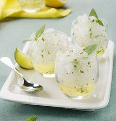 Granité au citron/citron vert et basilic / Lemon, green lemon, basil granita