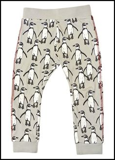 Who doesn't love monochrome print children's leggings?! A favourite from my first collection, the Rain Cloud penguin printed leggings are proving popular with both little lads and little ladies.