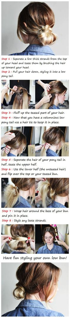 Low Bun Hair Tutorial