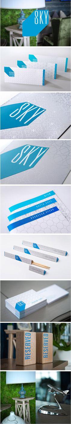 SKY | #stationary #corporate #design #corporatedesign #identity #branding #marketing < repinned by www.BlickeDeeler.de | Take a look at www.LogoGestaltung-Hamburg.de