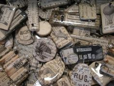 Vintage paper charms