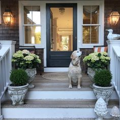 Modern Country Style: Farrow and Ball's Top 15 Painted Front Doors Front Door Paint Colors, Painted Front Doors, Paint Colours, Exterior Doors, Entry Doors, Garage Doors, Cooks Blue Farrow And Ball, Briarcliff Manor, Modern Country Style
