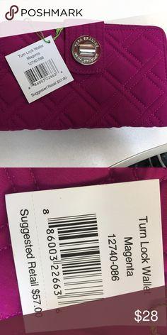 Vera Bradley turn lock wallet Vera Bradley turn lock wallet magenta Vera Bradley Bags Wallets