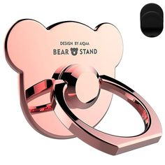 Zinc Alloy Finger Loop Ring Stand Cell Phone Ring Mirror Holder 360/° Rotation Rose Gold Transer Cell Phone Grip Kickstand