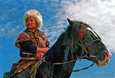 0359 RUSSIA (Altai Republic) - A horse-rider dressed in Altaic traditional clothes Altai Mountains, Perfect World, Central Asia, Horse Breeds, Traditional Outfits, Russia, Horses, Stock Photos, Animals