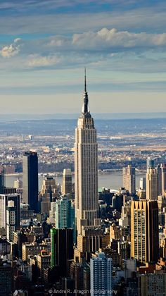 Vanessa Saunders of GPS real estate presents:  Andre's at it again! Empire State Building Aerial Photo from the East River Looking West