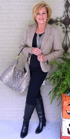 50 IS NOT OLD | HOW TO STYLE BLACK | Black and Tan | Boots | All Black | Fashion over 40 for the everyday woman