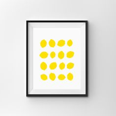 Lemons Print, Fruit Poster, Instant Download, Modern Wall Art, Home Decor, Minimalist Print Yellow Fruit, Fruit Bowl by FinlayAndNoa on Etsy https://www.etsy.com/listing/491545411/lemons-print-fruit-poster-instant