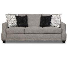 Alexandria Gray Sofa Grey Loveseat, Gray Sofa, Grey Sectional, Living Room Sectional, Living Room Furniture, Living Rooms, Living Area, Broyhill Furniture, Comfortable Sofa