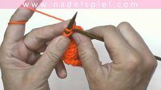 Stricken lernen mit eliZZZa #07 * Linke Maschen verschränkt abstricken