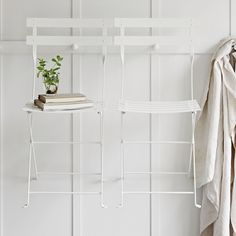 Folding Bistro Chairs - Set of 2 | The White Company