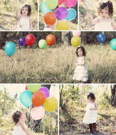 child photos with balloons