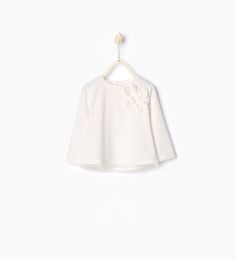Organic cotton T-shirt with tulle bows