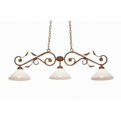 2nd Ave Design Bordeaux 3 Light Billiard Light Finish: Copper Rust Premium