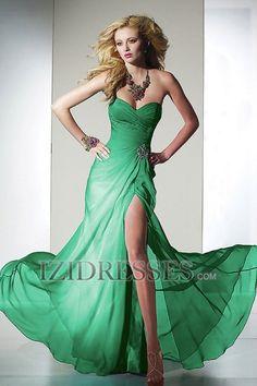 Sheath/Column Strapless Sweetheart Chiffon Prom Dress