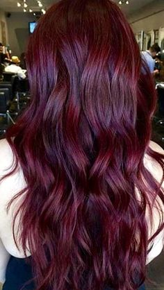 Wine colored hair