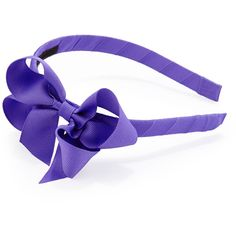 Bow Arts Grosgrain 3D-Bow Headband ($5) ❤ liked on Polyvore featuring accessories, hair accessories, headband, bow, hair, purple hair accessories, grosgrain headbands, hair band headband, hair bands accessories ve bow headband