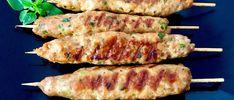 Shish kebab z grilla Rose Cookies, Kebabs On The Grill, Shish Kebab, Cookie Pops, Garam Masala, Bbq Grill, Asparagus, Zucchini, Sausage