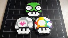 Miscellaneous Mario Mushrooms: Gir (Invader Zim), Companion Cube (Portal), Rainbow