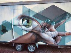 Marcus Gomad Debie in Heerlen, Netherlands, 2017, street art mobile