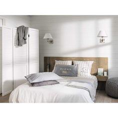 Testata da letto 160 cm con contenitori in rovere 160 cm   Maisons ...