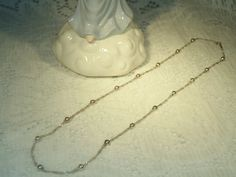 Sterling Silver Vintage Necklace chain Ball by SandiesGiftCorner, $29.95